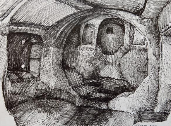 """""""Kilise"""" Ink on Paper, 2013"""
